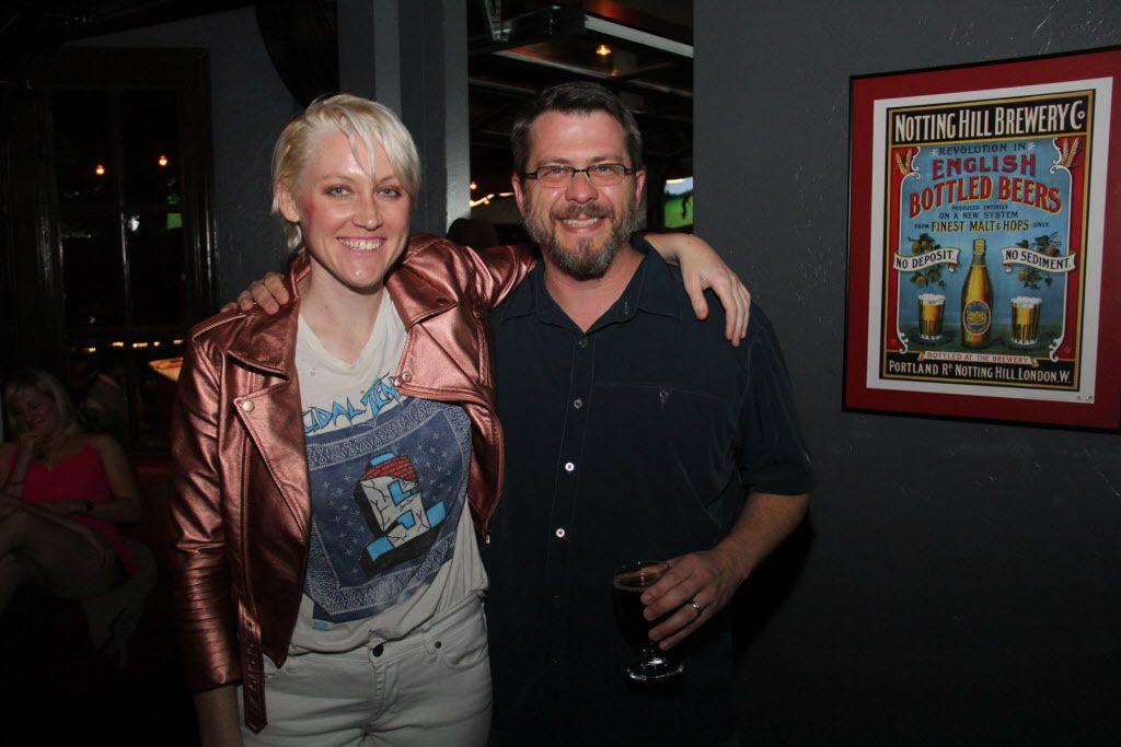 Sarah Jaffe and owner Corey Pond at The Common Table on May 30, 2015