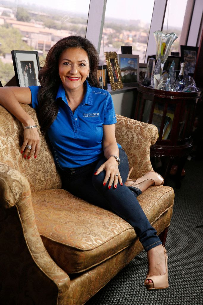 A portrait of Nina Vaca, owner of Dallas-based Pinnacle Group, at her office in Dallas on May 26, 2017.  (Nathan Hunsinger/The Dallas Morning News)