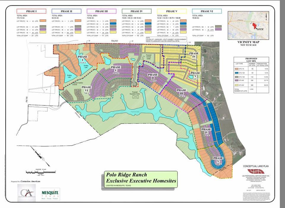 Polo Ridge Ranch will be built in multiple phases and is located south of Interstate 20.