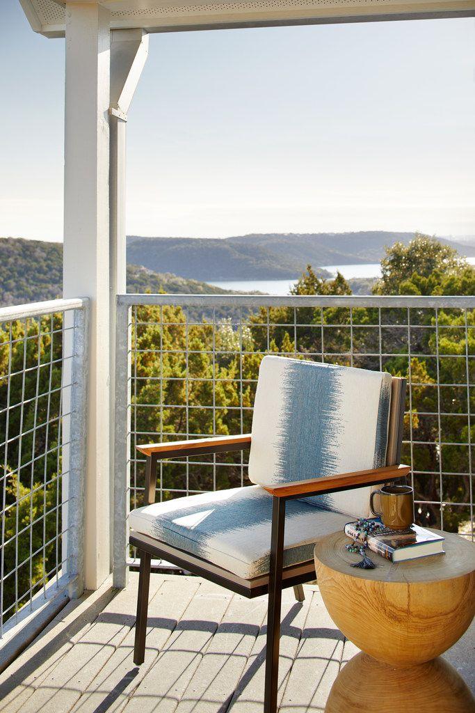 Guest-room balconies at Miraval Austin overlook Lake Travis.