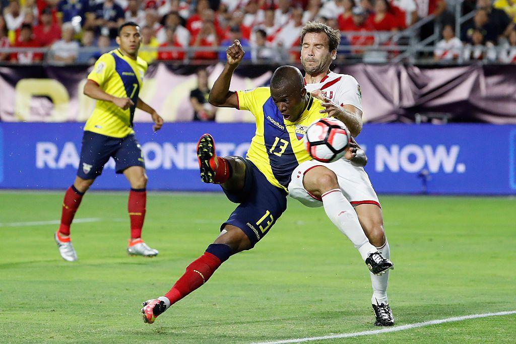 Enner Valencia #13 of y la selección de Ecuador juegan amistoso contra México por segunda vez en el Norte de Texas. (Photo by Christian Petersen/Getty Images)