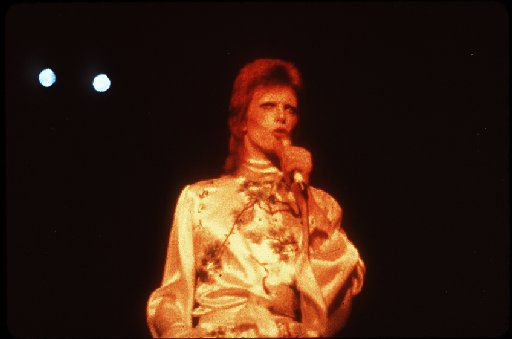 David Bowie as Ziggy Stardust in an undated file photo.