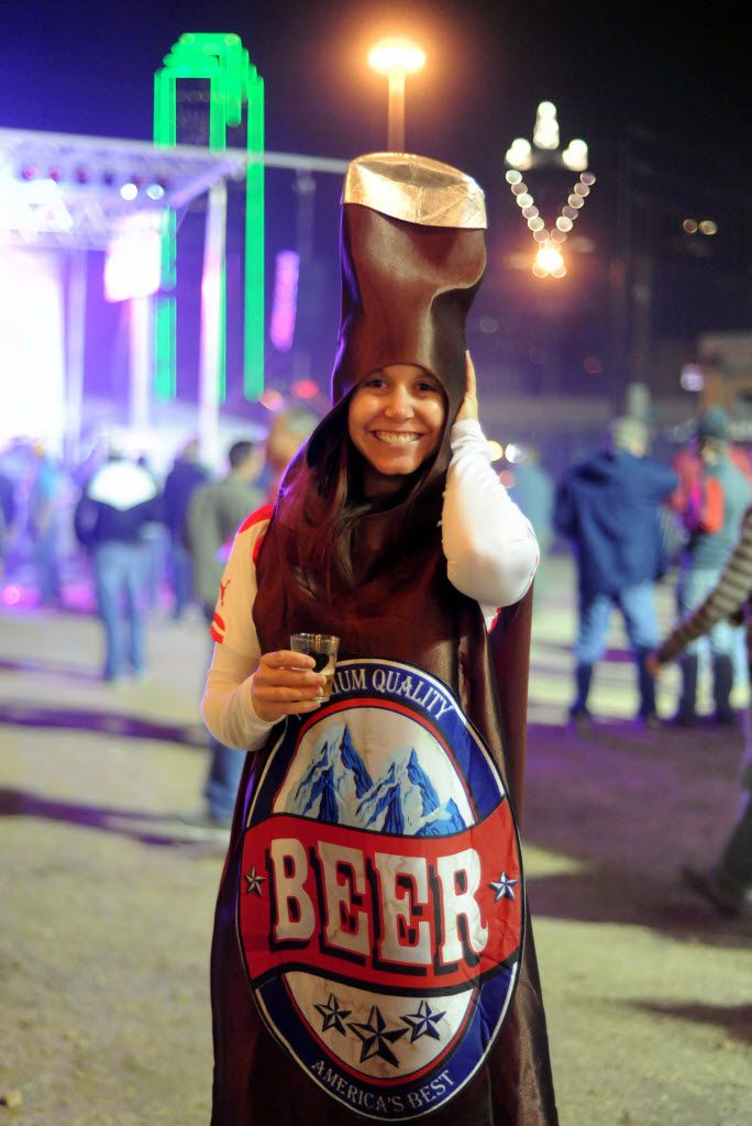 Rachel Bobroff dresses up as a beer at Untapped Music and Beer Festival, one of the numerous local events where drinkers can get a taste of the local scene.