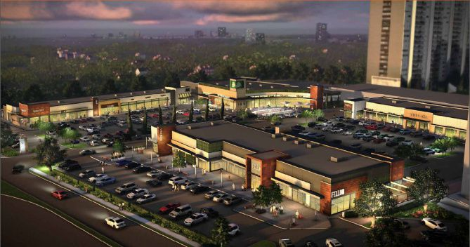 The remodeled Turtle Creek Village shopping center, shown in a rendering, will get sleek, modern lines as well as a Fresh Market grocery store and signature restaurants.