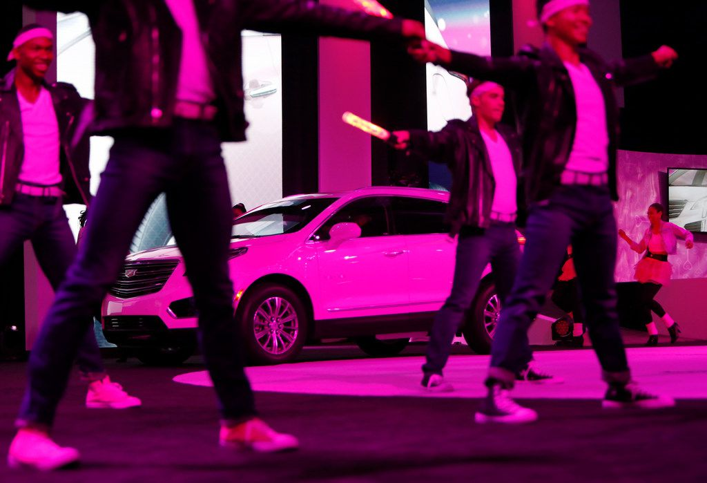 Stage performers had plenty to dance about as the new Chevrolet Traverse 1LT was rolled out to the excitement of independent sales representatives for  Mary Kay Cosmetics. The vehicle was one of two added to the company's career fleet. The annual seminar, which attracted near 30,000 Independent Mary Kay Beauty Consultants, was held at the Kay Bailey Hutchison Convention Center.