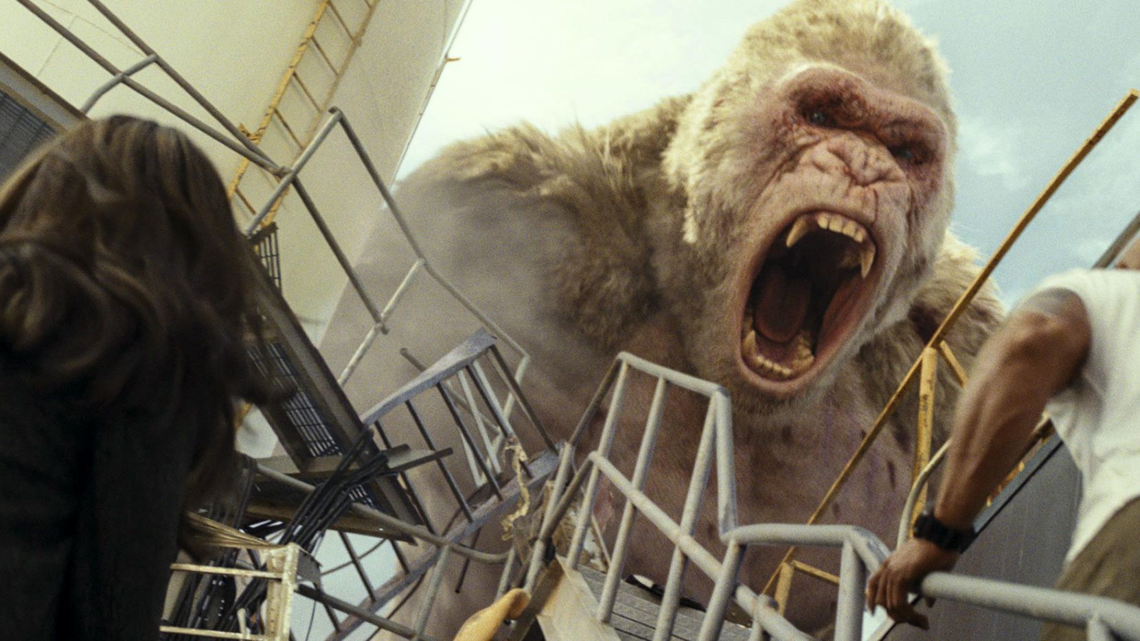 """La película de acción """"Rampage"""" se estrenó este viernes.(Warner Bros.)"""