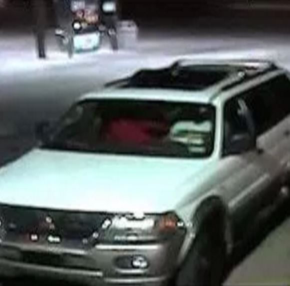 The robbers fled in a white Mitsubishi SUV with a sunroof.