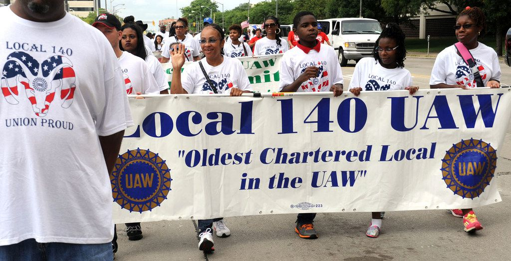 UAW Local 140 marches in a previous Labor Day Parade in Detroit. This year, some UAW members are calling for others to join them on Labor Day 2019 to protest against the international union's leaders.