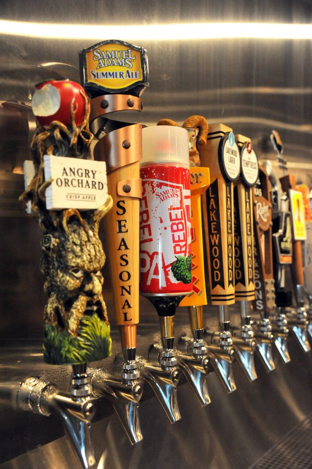 Sixteen beers are on tap with six local beers at Snuffers in Addison, TX on May 7, 2015. (Alexandra Olivia/ Special Contributor)