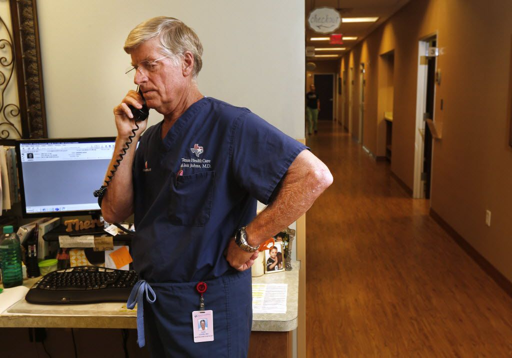 """""""I still love what I do,"""" says Dr. Alan Johns, who was diagnosed with breast cancer 20 years ago."""
