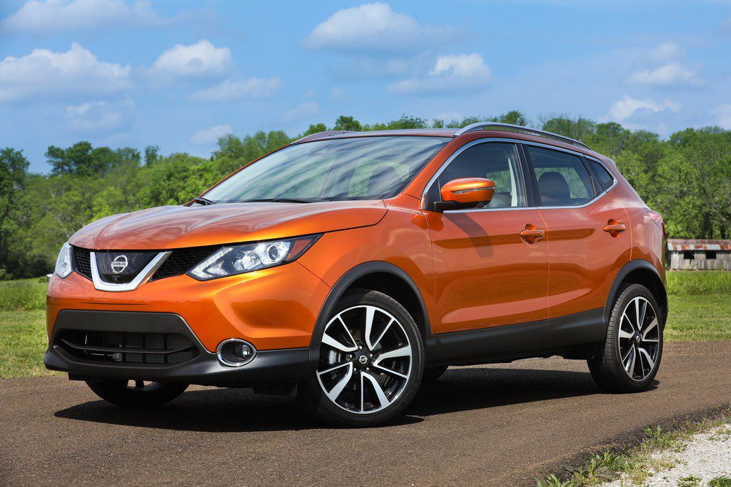 Nissan Rogue Sport, which is slightly smaller than the Rogue, is designed for active urban lives.