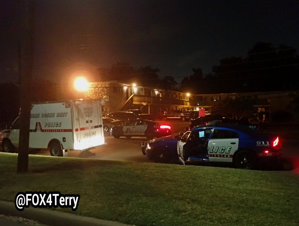 One man died after being shot at an Arlington apartment overnight.