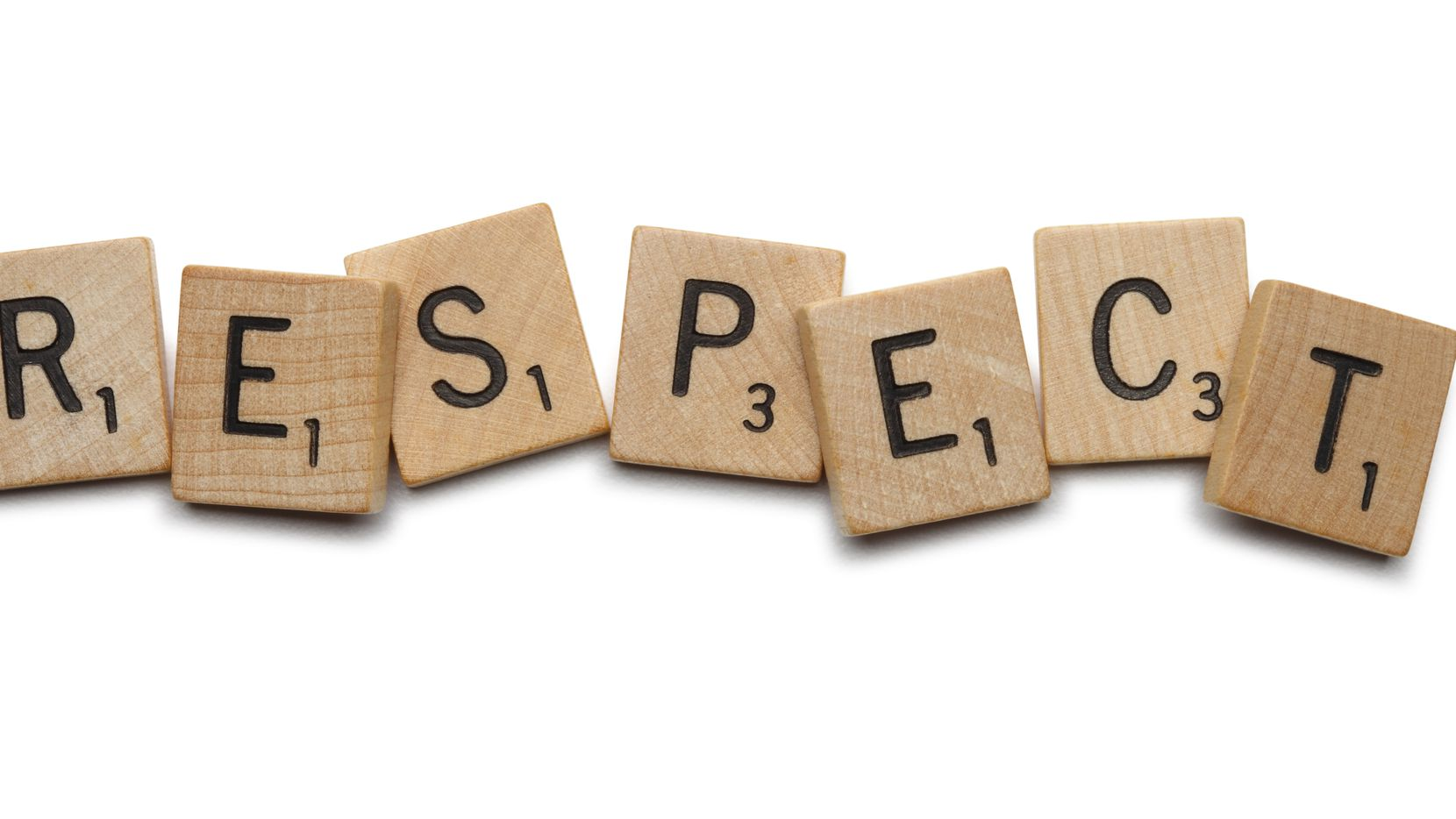 San Diego, California, USA - September 6, 2011: The word Respect spelled out with wooden Scrabble tiles. Shot on a white background in a studio setting.
