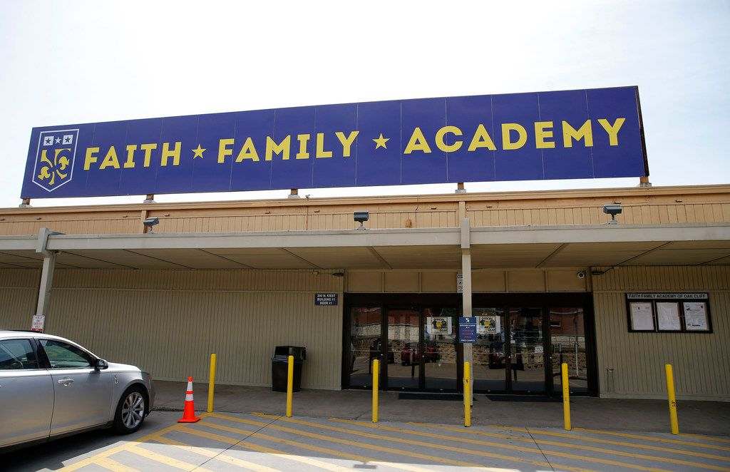 Oak Cliff Faith Family Academy photographed in Dallas on Wednesday, March 6, 2019. Faith Family Academy will be competing in the 4A boys basketball state tournament this weekend. (Vernon Bryant/The Dallas Morning News)