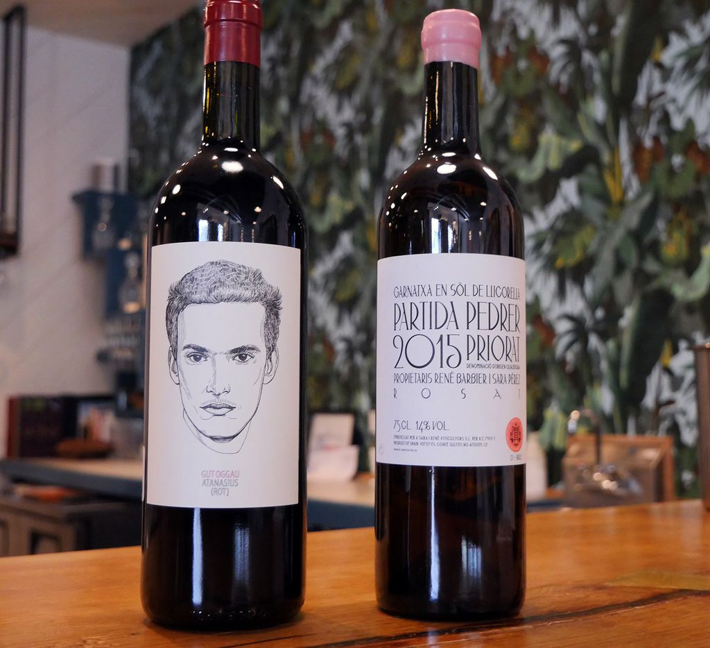 2017 Gut Oggau  Atanasius  and 2015 Partida Pedrer Priorat ros  of Grenache at Bar & Garden, Dallas