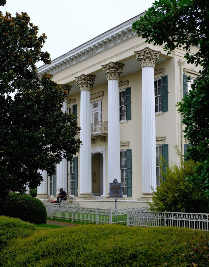 The 1851 Murphy House, built for a slave merchant, around the corner from the Legacy Museum, in downtown Montgomery.