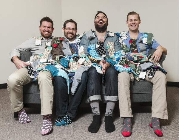 From left: Tom Browning, Matt McClard, Bryan DeLuca and Kelly Largent started Foot Cardigan in 2012. They now have over 4,000 subscribers.