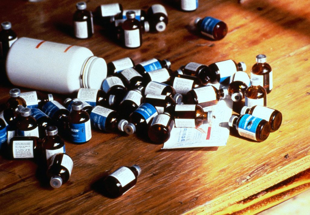 Bottles of poison that belonged to the Peoples Temple. (File Photo/The Associated Press)