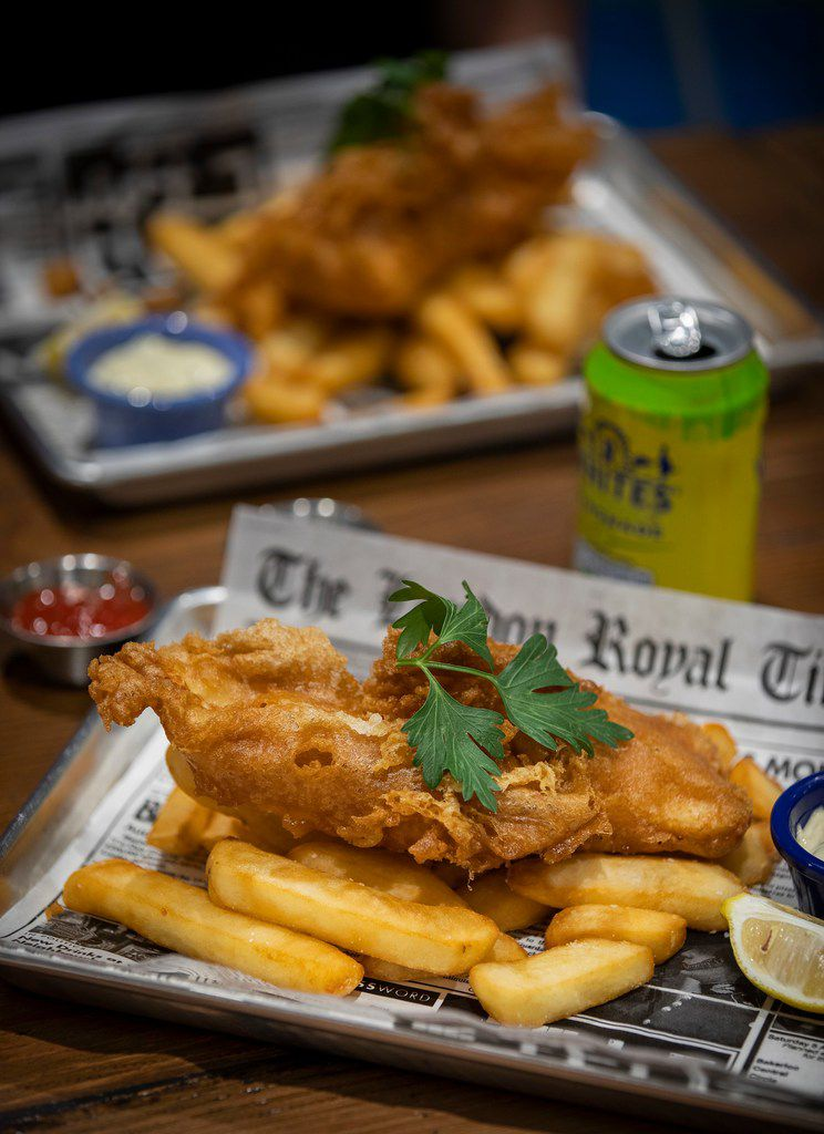 The house favorite fish and chips is the most popular item on the menu at Fish & Fizz in Richardson.