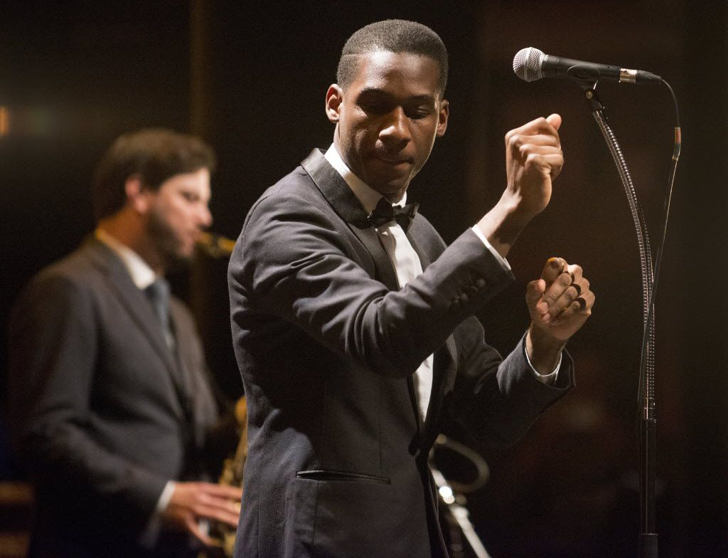 Leon Bridges performs at the Majestic Theater in Dallas, Texas on November 14, 2015.
