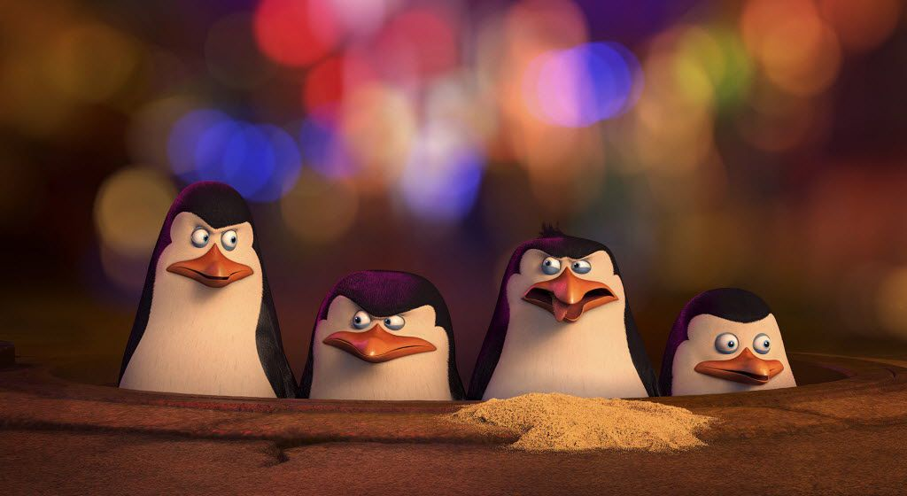 This photo released by DreamWorks Animation shows a scene from The Penguins of Madagascar.
