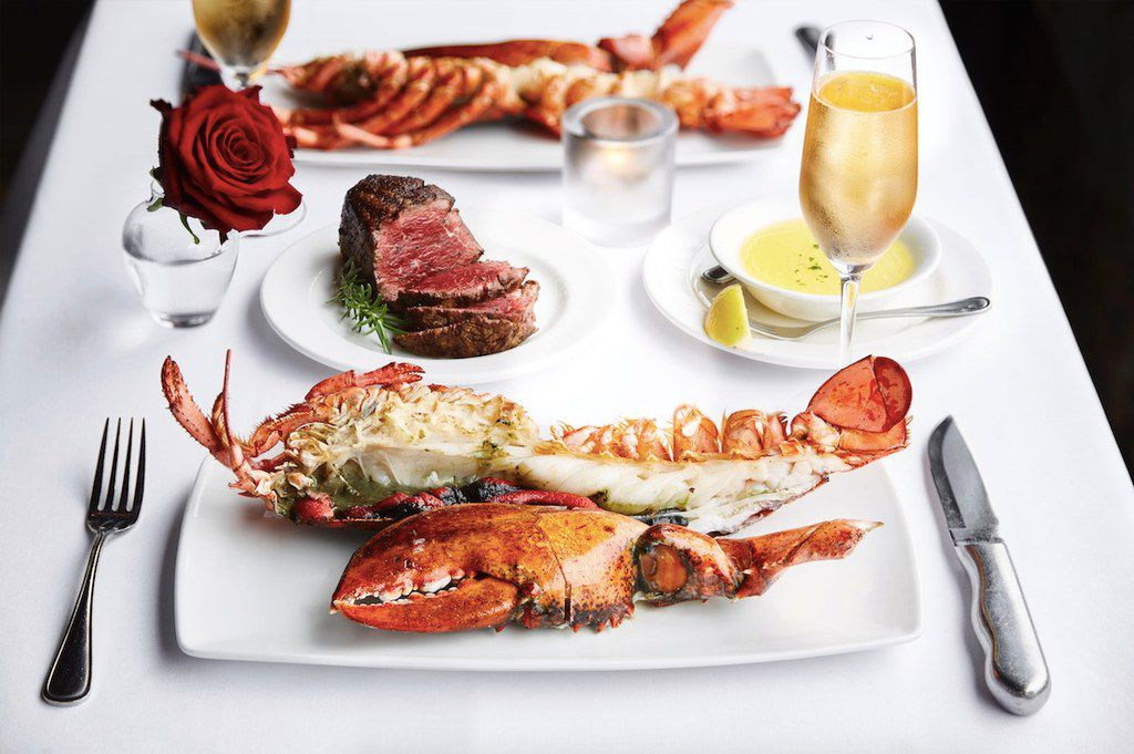 Diners at Al Biernat's in Dallas and Far North Dallas can order surf and turf on Valentine's Day 2019.