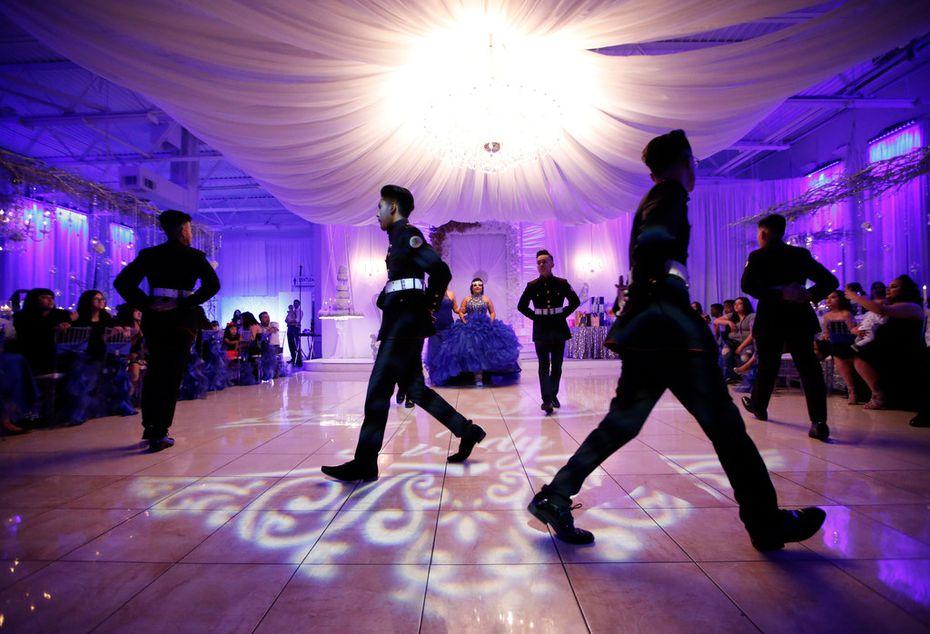 The Latin Boyz Cadets dancing group perform el vals, or quinceañera waltz.