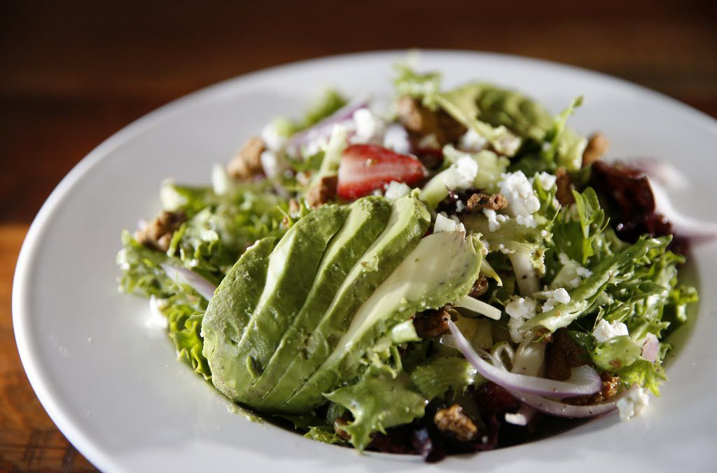 Strawberry Fields salad at Rock & Brews in The Colony, Texas, Tuesday, March 8, 2016. (Jae S. Lee/The Dallas Morning News)