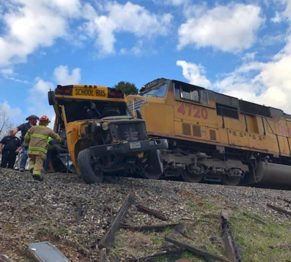 One student was killed and another was injured Friday when a train collided with a school bus in Athens, Texas.