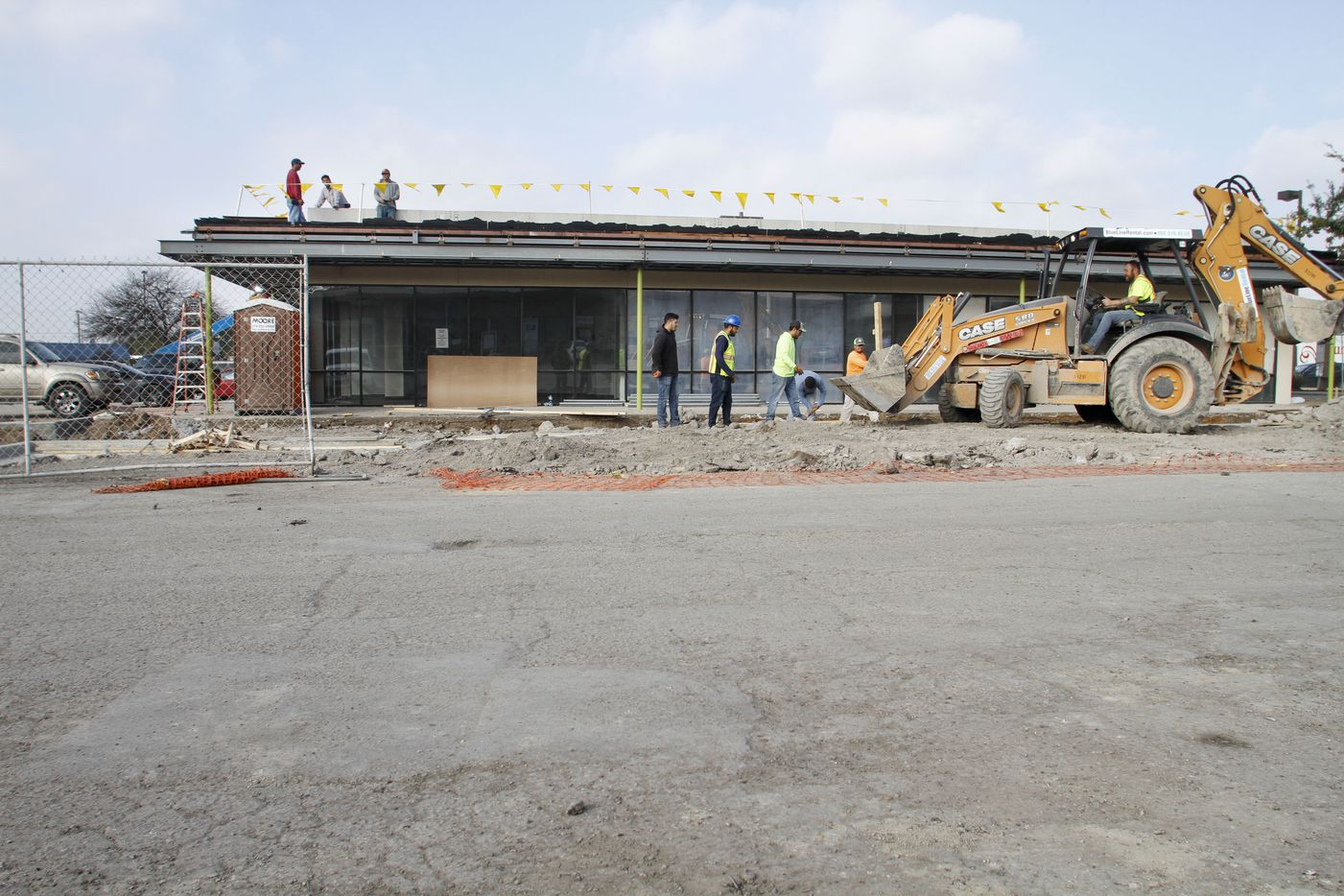 Construction is underway to renovate Lake Highlands' Lakeridge retail center at Audelia and Walnut Hill in Dallas.