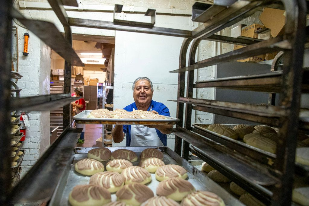 Alfonso Vera, owner of Vera's Bakery Inc., prepares pastries at his shop in Dallas on Nov. 13, 2018. The family-owned business has been operating near the Bishop Arts District since April 1, 1995, but as gentrification encroaches on it, the bakery's owners find themselves navigating the changing landscape.