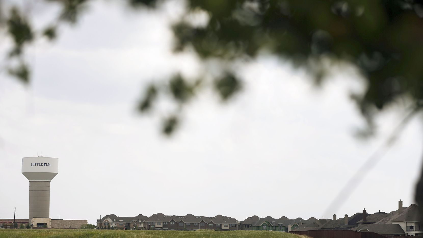 Undeveloped land near FM423 and Woodlake Parkway in Little Elm, Texas on Wednesday, May 22, 2019. Little Elm, which had just 3,500 people as of the 2000 Census, surpassed 50,000 residents in 2018. (Vernon Bryant/The Dallas Morning News)
