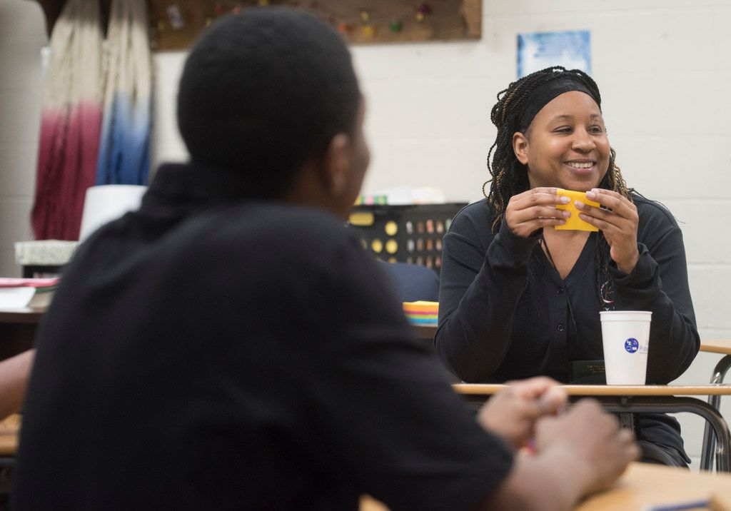 Dr. Nikki Chamblee is a English teacher and campus restorative practices coordinator Disciplinary Alternative Education Program at DeSoto ISD.  (Rex C. Curry/Special Contributor)