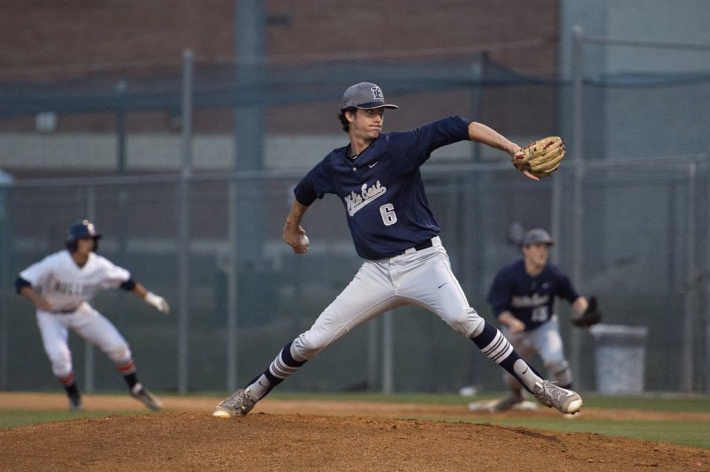Wylie East starting pitcher Braden Shewmake delivers a pitch in the first inning of a baseball game against North McKinney Friday, April 1, 2016 at McKinney North High School in McKinney, Texas. (Jeffrey McWhorter/Special Contributor)