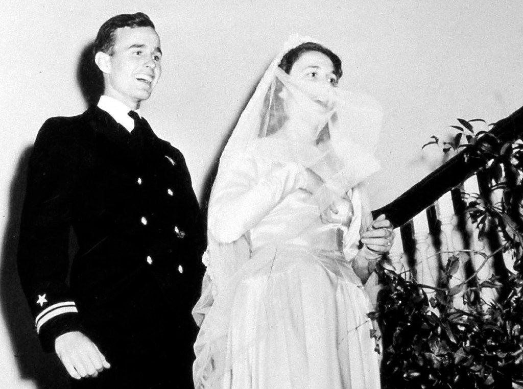 George H.W. Bush and Barbara Pierce married on Jan. 6, 1945, in Rye, N.Y.