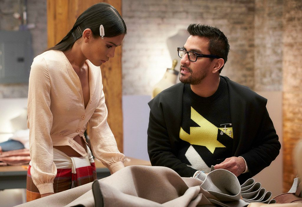 "In ""The Art of Fashion"" episode, designer Jhoan ""Sebastian"" Grey (right) worked with MiMi Tao, the show's first transgender model."