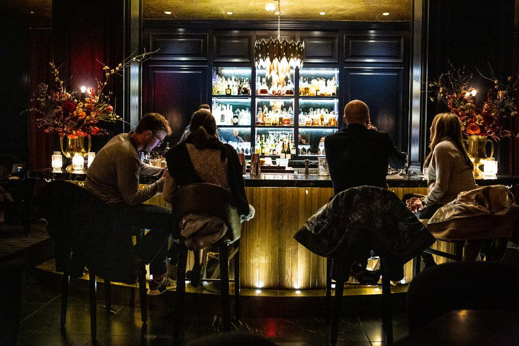 The bar at The French Room in Dallas on Jan. 19, 2019.