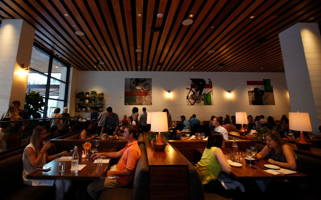 Diners at North Italia, a new restaurant at Legacy West, in Plano, Texas, Friday, June 23, 2017.