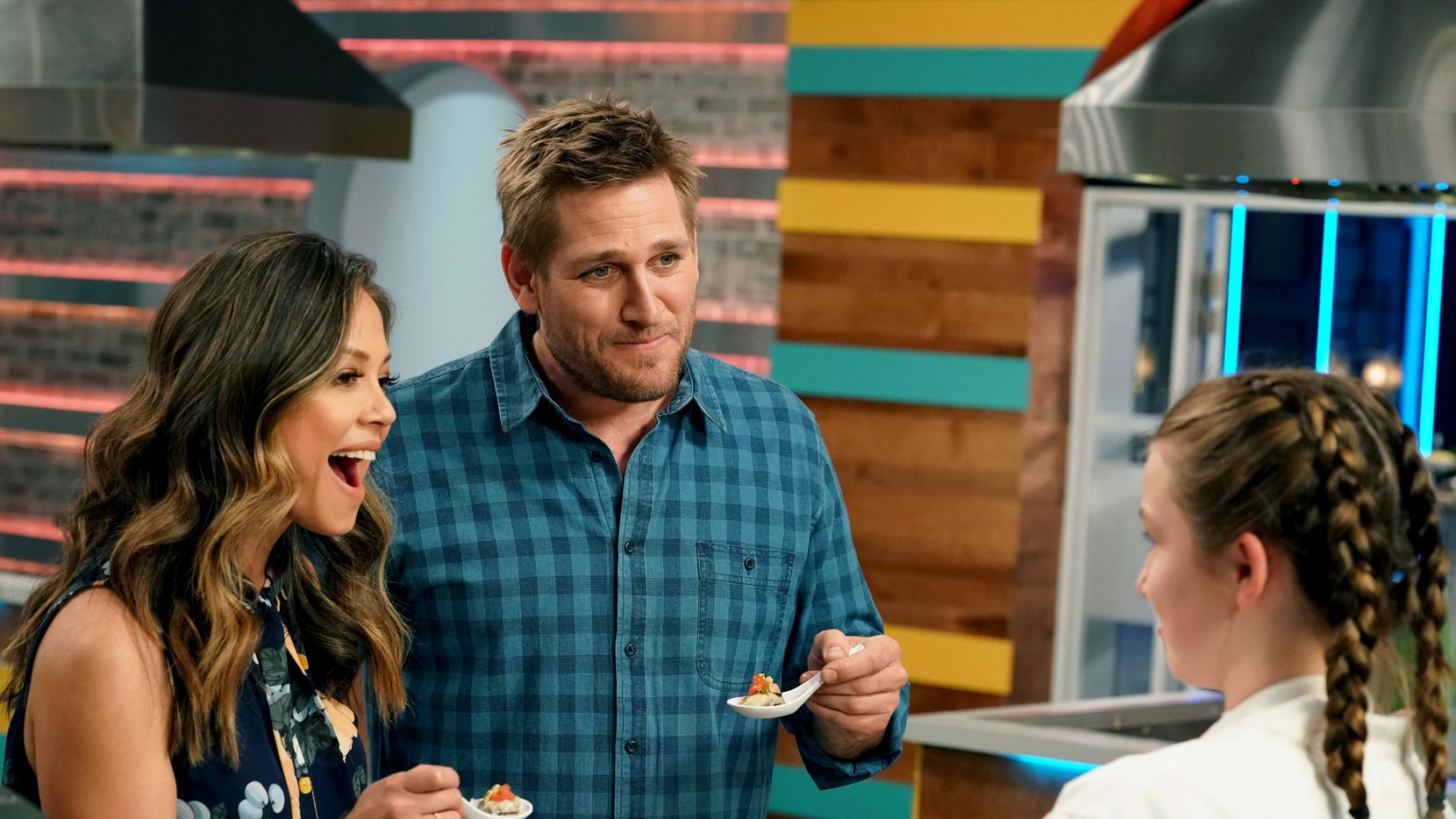 Curtis Stone, center, a celebrity TV personality and chef, will open a restaurant in Dallas inspired by his glammy West Hollywood restaurant Gwen.