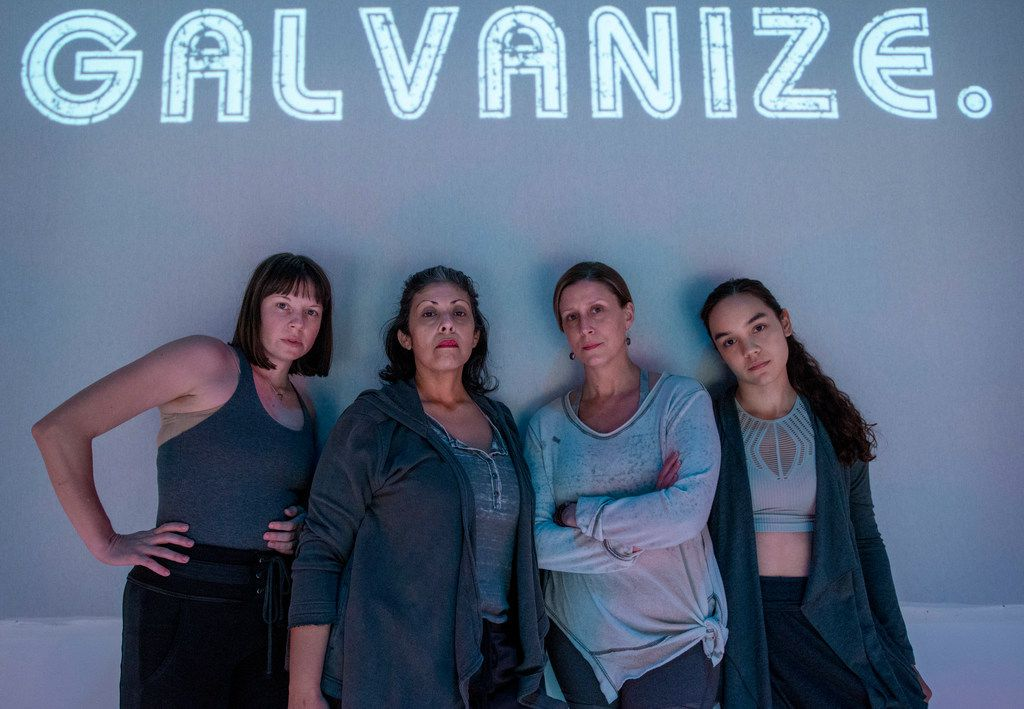 Jenny Ledel, Christie Vela, Lydia Mackay and Tia Laulusa perform in Second Thought Theatre's €œRevolt. She Said. Revolt Again.