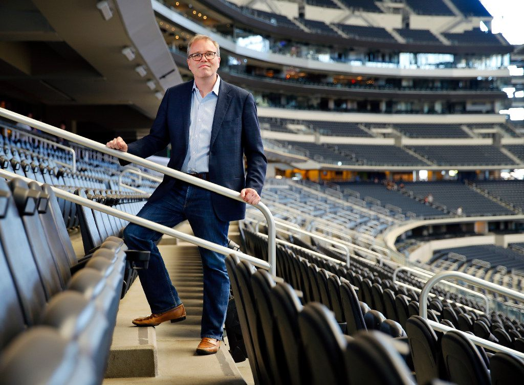 BeautyKind CEO Hil Davis has rented out AT&T Stadium in Arlington, Texas for a concert on March 25, featuring Demi Lovato, Jake Owen, Cole Swindell and The Band Perry. Half of the ticket price will go the charity of the concert goer's choice.  He is pictured in the stadium seating, Wednesday, February 22, 2017.(Tom Fox/The Dallas Morning News)