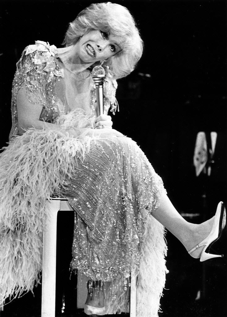 Joan Rivers performs before a packed house at the Loews Anatole's Mistral club in Dallas on July 16. 1984.