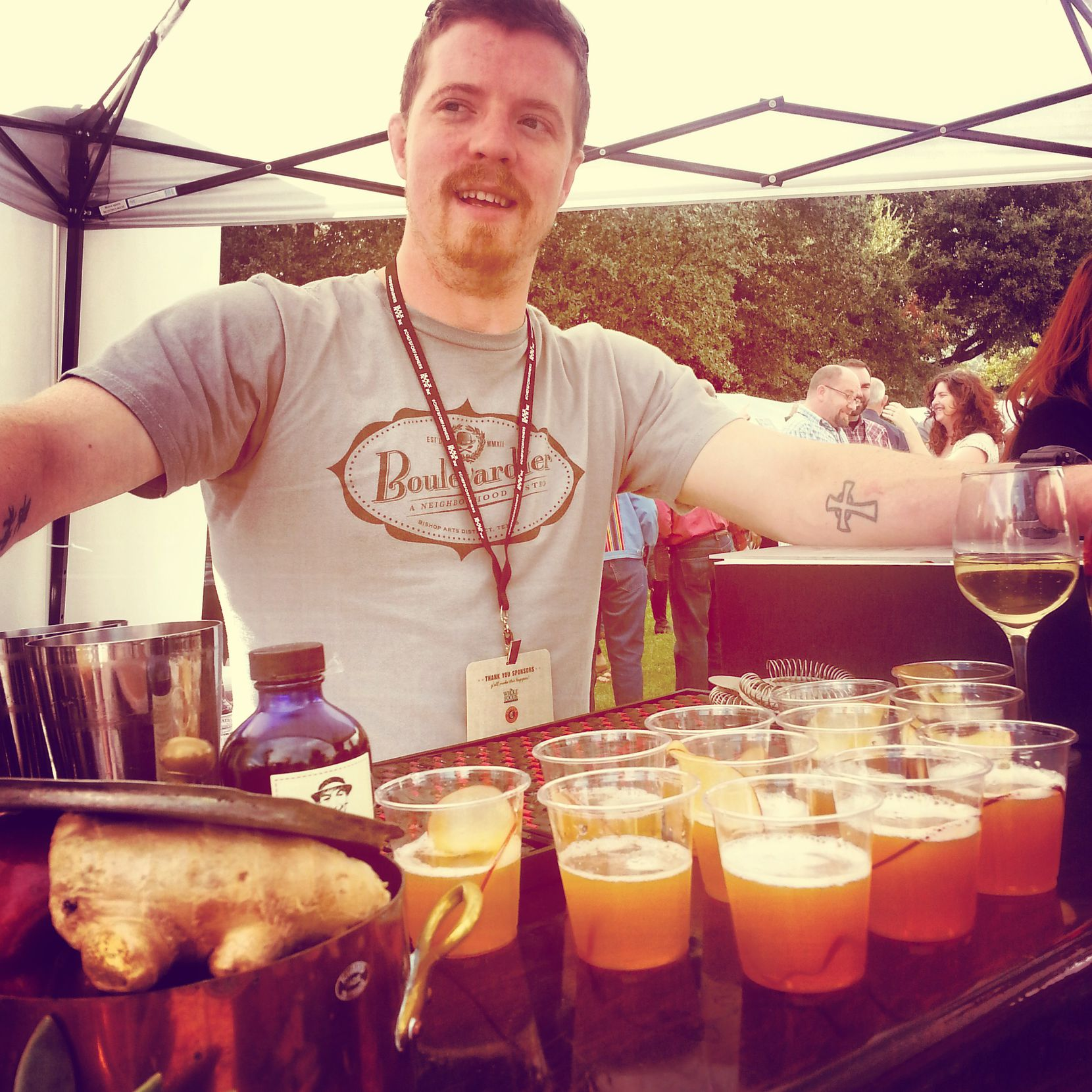 Don't start freakin' if you haven't seen Eakin: He's over at soon-to-open Rapscallion. Shown here at 2013's Chefs for Farmers event.