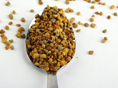 Granulated bee pollen photographed in the studio in Dallas on Thursday, September 26, 2019. (Vernon Bryant/The Dallas Morning News)