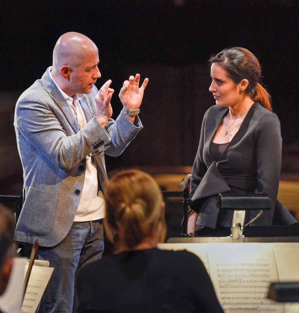 Hart faculty member Maestro Carlo Montanaro worked with Lina Gonzalez-Granados during the Dallas Opera's Hart Institute for Women Conductors. Montanaro will lead Elgar's Enigma Variations and Brahms ' Second Symphony as guest conductor for the Fort Worth Symphony on May 21.
