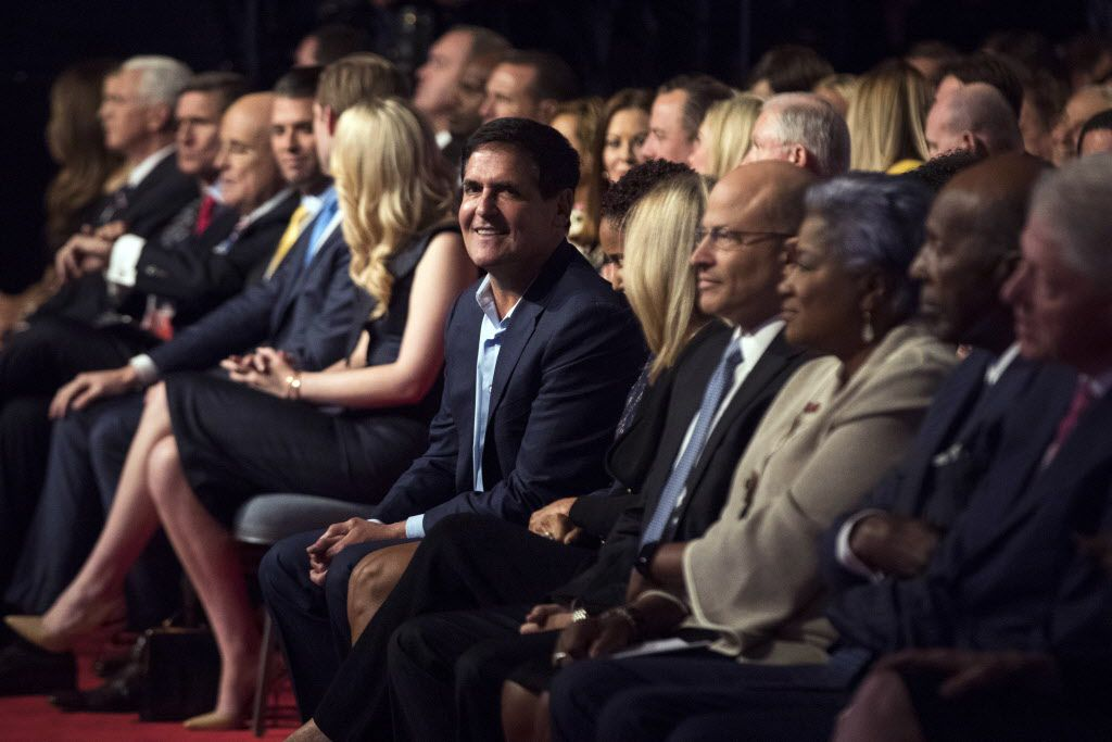 Mark Cuban sat in the audience before the first presidential debate between Democratic presidential candidate Hillary Clinton and Republican presidential candidate Donald Trump at Hofstra University in Hempstead, N.Y.,  last month. (Matt Rourke/The Associated Press)