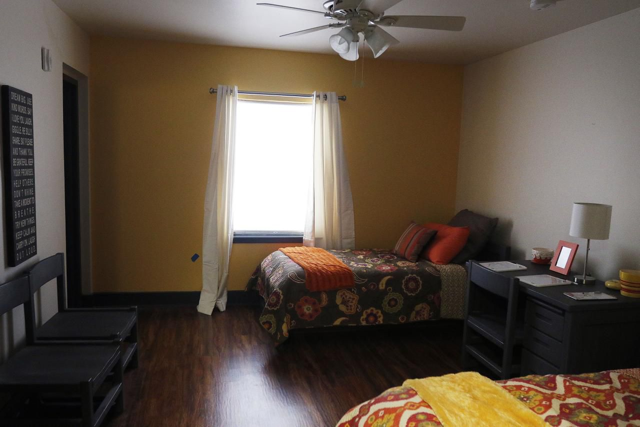 A general overview of a room at the Ebby House in Dallas.
