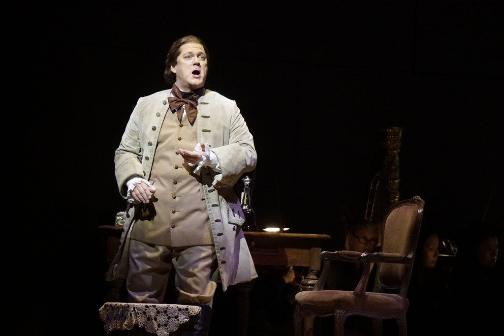 Gregory Kunde plays Chevalier des Grieux during the Dallas Opera's dress rehearsal of Puccini's Manon Lescaut at the Winspear Opera House in Dallas on Feb. 27.