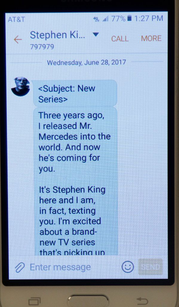 As far as threats go, this one from author Stephen King wasn't so bad.