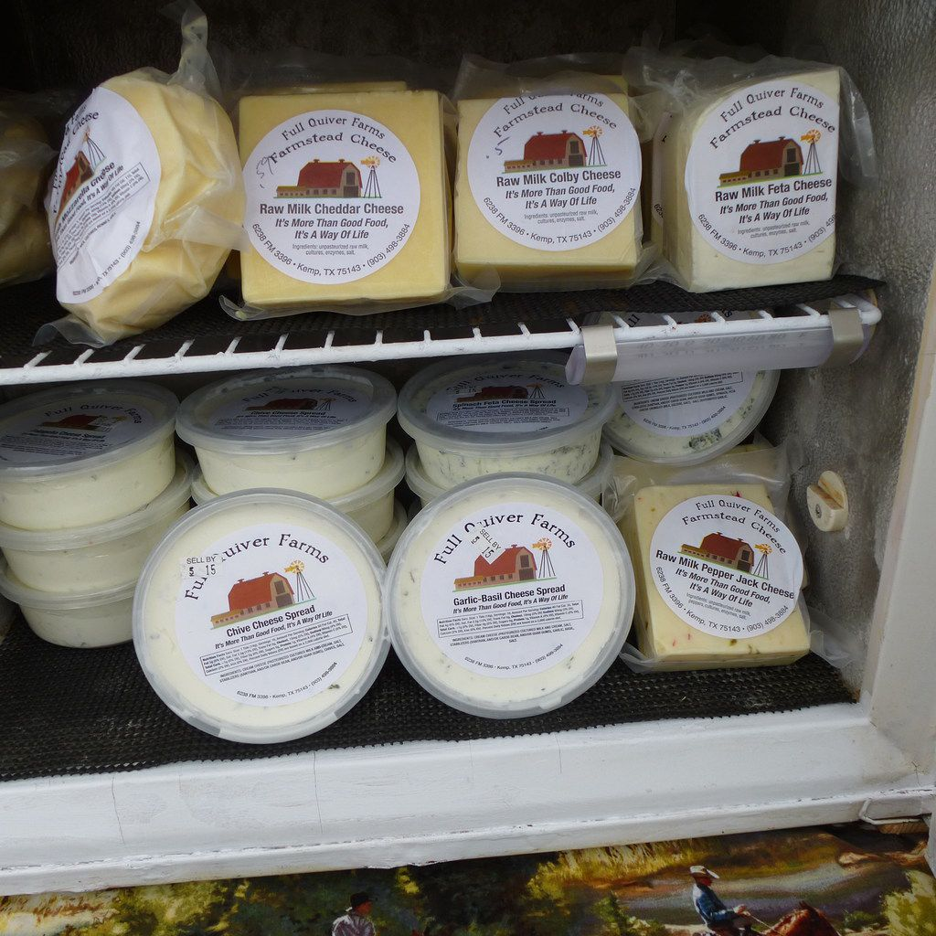 Truth Hill Farm brings Full Quiver Farms cheeses and spreads to the Rockwall Farmers Market along with its pastured beef.